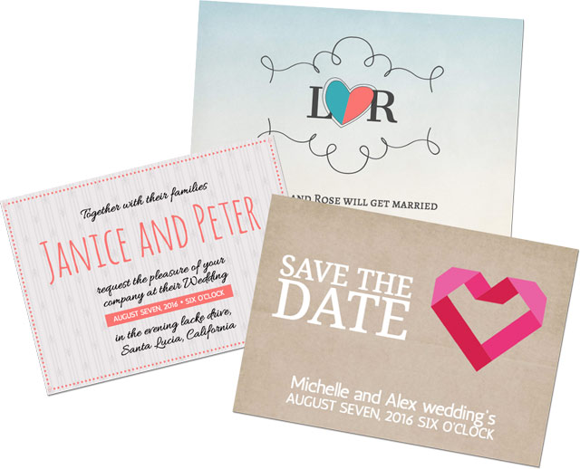 Design en ligne - Invitations