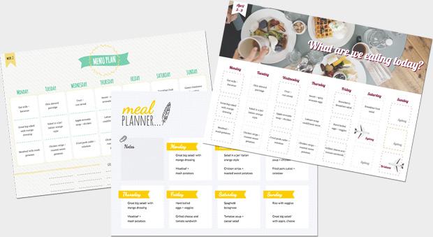 Créez en ligne - éditeur de planning hebdomadaire